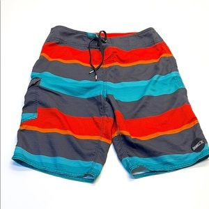 O'NEILL Mens 30 Orange Blue Black Board Shorts
